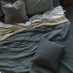 Ib Laursen Quilt sengetæppe dusty petrol-20
