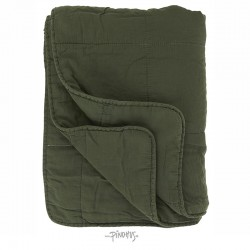 Ib Laursen Mørkegrøn Quilt tæppe-20