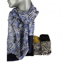 Aperitif silke tørklæde Marquis sort-20