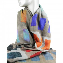 Aperitif tørklæde Uld/silke rektangel-20