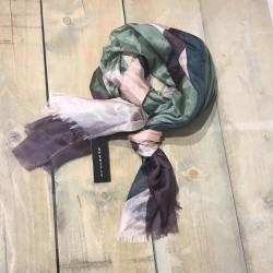 Aperitif silke tørklæde Rose/blå/grøn-20