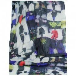 Tørklæde uld/silke Catwalk-20