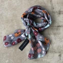 Aperitif silke tørklæde Grey dots-20