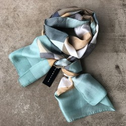 Aperitif silke tørklæde Gold mint-20