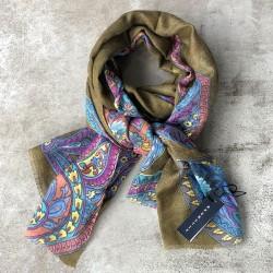 Aperitif tørklæde Uld/silke Paisley-20