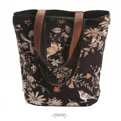 Canvas taske Black clematis-20