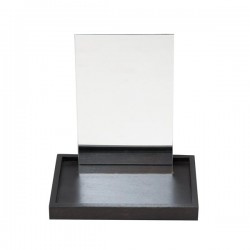 Bordspejl m/ sort træbakke-20