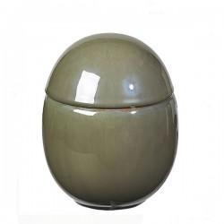 Dekokrukke Curves oliven H15cm-20
