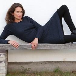 Gorridsen Design Fortuna strik-kjole blå-20