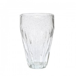 Drikkeglas m/ riller H14cm-20