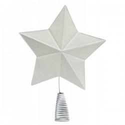 Metal Topstjerne Hvid-20