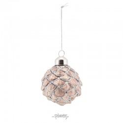 Ornament Kogle m/glimmer 6cm-20
