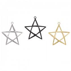 Ornament Double stjerne H9cm-20