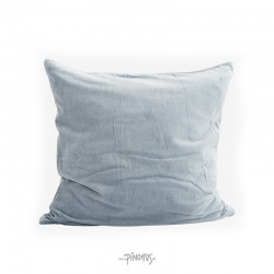 Pude Velour lys grå/blå 50x50cm-20