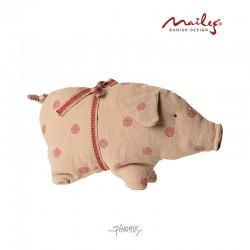 Maileg Hør gris m/prikker-20