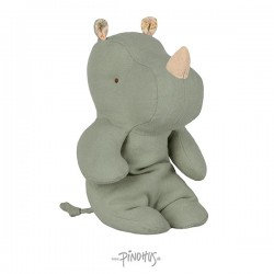 Maileg Safari friends rhino dusty green-20