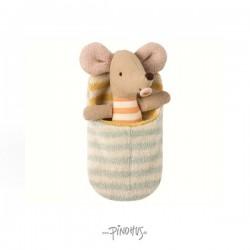 Maileg Baby mus i sovepose-20