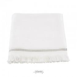 Meraki Øko. håndklæde hvid m/strib 70x140cm-20