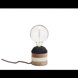Bordlampe Træ grå/creme-20