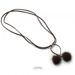 Nicki mink halskæde choko-20