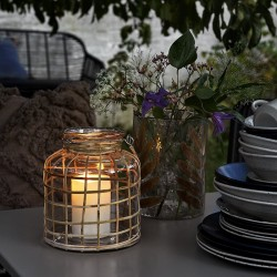 Nordal lanterne Glas m/bambus-20