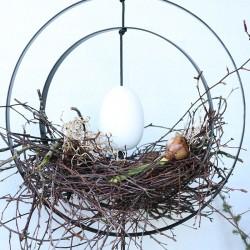 Nordic by hand Hvidt træ æg-20