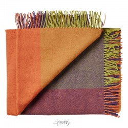 Plaid uld Mix farve orange-20