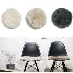 Rundt sæde skind til stol Ø37cm-20