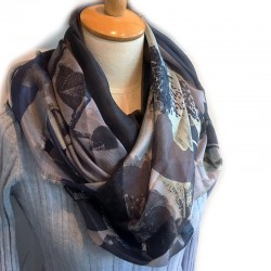 Aperitif silke tørklæde Slate-20