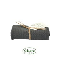 Solwang strikket håndklæde Mørk grå-20