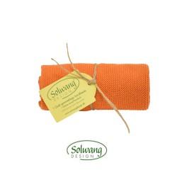 Solwang strikket håndklæde Brændt orange-20