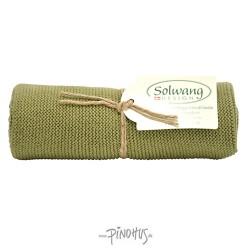 Solwang strikket håndklæde Oliven-20