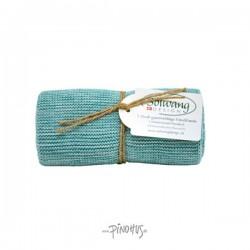 Solwang strikket håndklæde Aqua mix-20
