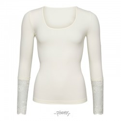 Tim and Simonsen bluse m/ blonde ærme Offwhite-20