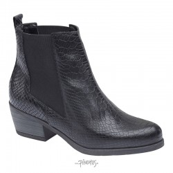Angelina croco skind støvle sort-20