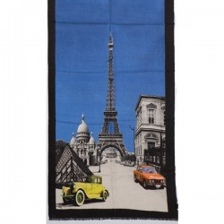 Tørklæde uld/cashmere Paris blå-20