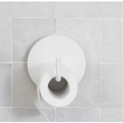 Toiletpapirholder Text hvid-20