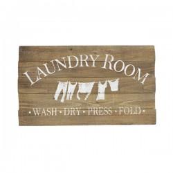 Skilt i træ Laundry-20