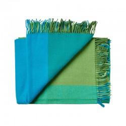 Plaid uld Mix farve Grøn-20