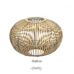 Rund Bambuslampeskærm natur 48cm-20