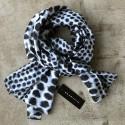 Aperitif silke tørklæde - Greyblue/black circle