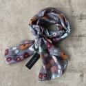 Aperitif silke tørklæde - Grey dots