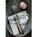 Musselmalet servietter - blå