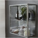 Lille glasskab m/stål kanter-01