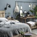 Ib Laursen - Quilt sengetæppe støvblå