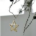 Ornament Double stjerne H9cm-00