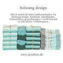 Solwang Karklude 3 stk. Turkis mix-03