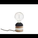 Bordlampe Træ grå/creme-01