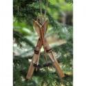 Ornament Ski/skistav i træ-00