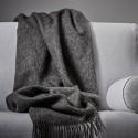 Uld plaid athen - Mørk grå melange